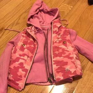 Joe's jeans pink camouflage hoodie zip jacket